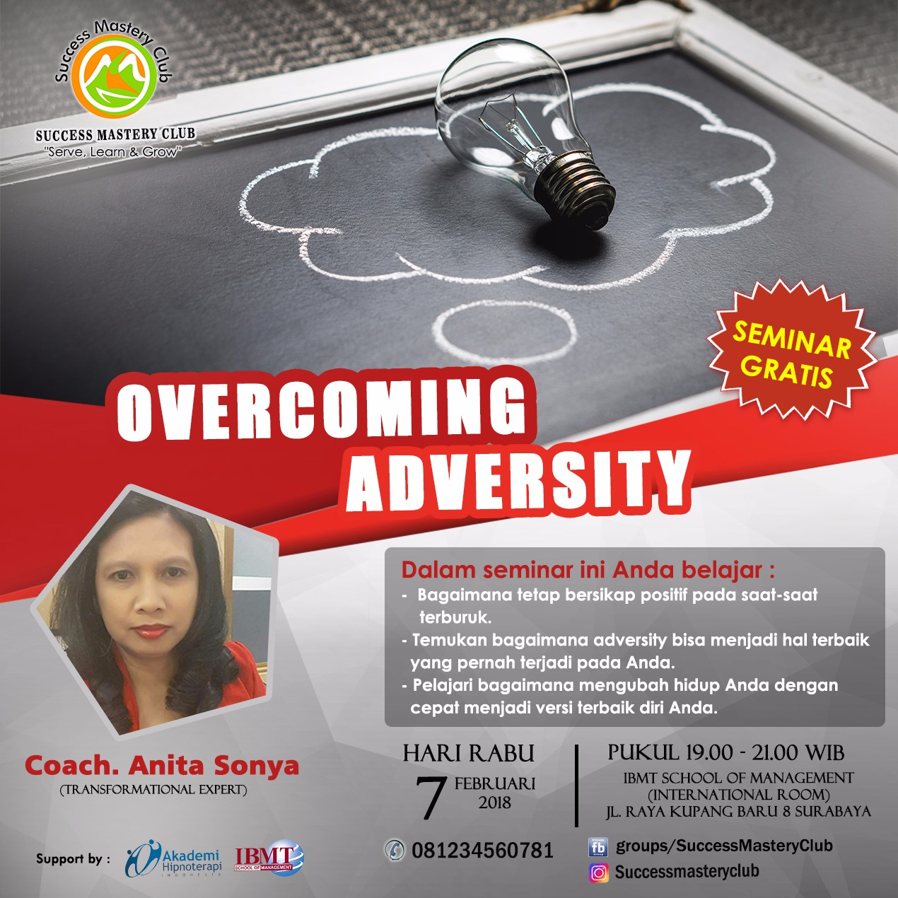 overcoming adversity Social enterprise company to transform the nation through leadership development contents and programs.